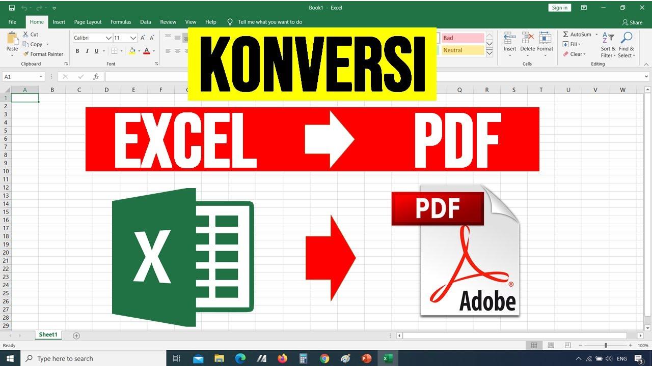 Cara Mengubah File Excel Menjadi Pdf Agar Tidak Terpotong Tutorial Excel Bahasa Indonesia Youtube