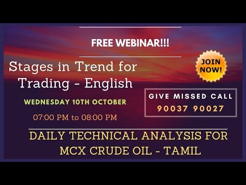 MCX CRUDE OIL TRADING TECHNICAL ANALYSIS OCT 10 2018 IN TAMIL CHENNAI TAMIL NADU INDIA