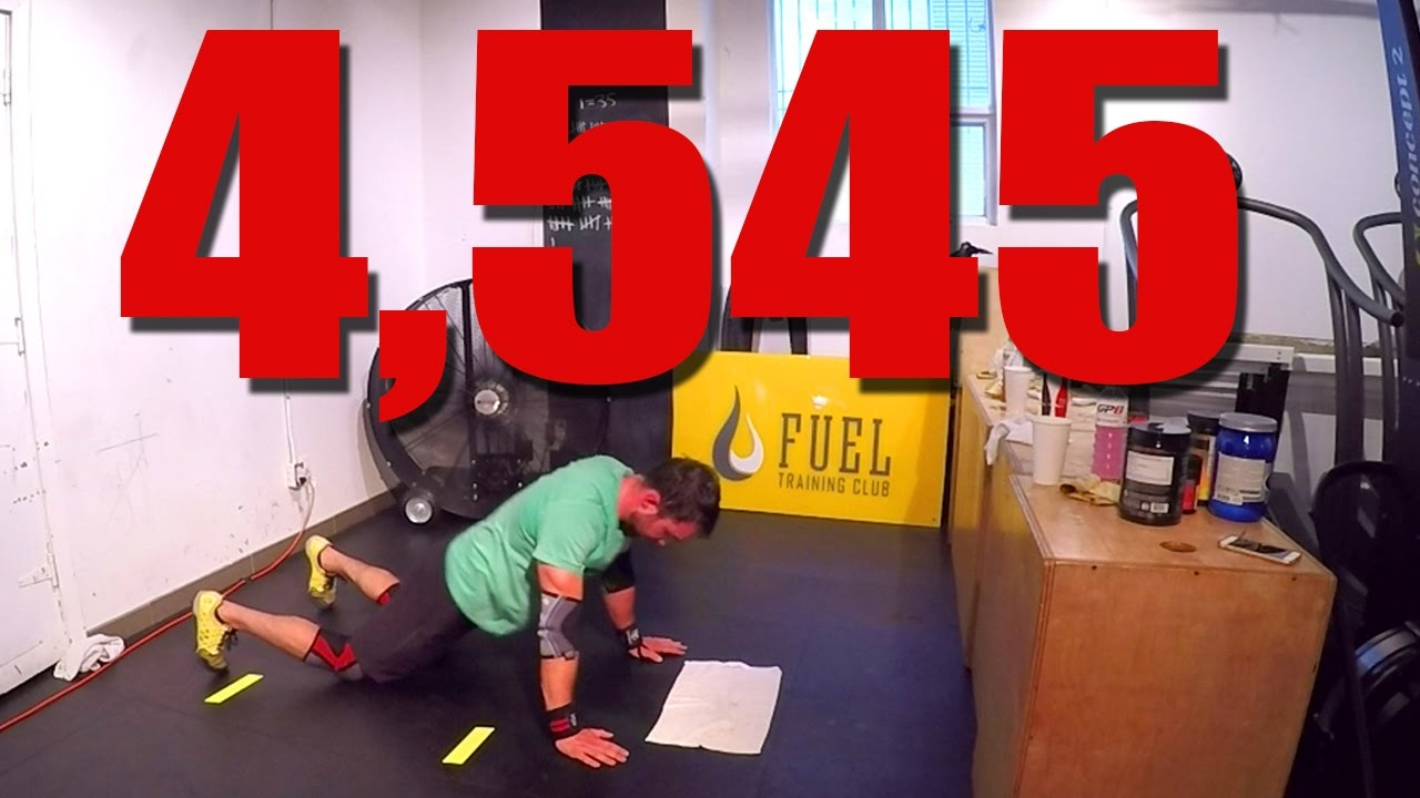 4 545 Chest To Floor Burpees In 12hrs Guinness World Record