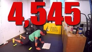4,545 Chest to Floor Burpees in 12hrs (Guinness World Record)