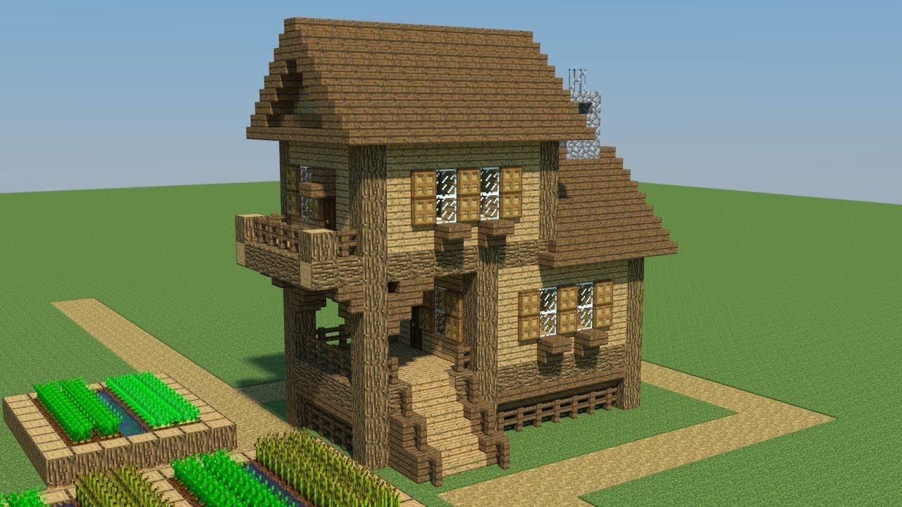 майнкрафт небольшой дом #4