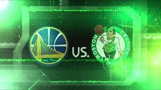 Boston Celtics vs. Golden State Warriors in-arena TD Garden pump-up intro - November 16, 2017