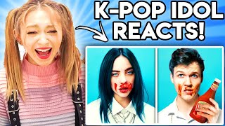 K-POP IDOL REACTS TO LANKYBOX! (ZERO BUDGET BTS, BILLIE EILISH, MULAN, SHAWN MENDES, & MORE!)