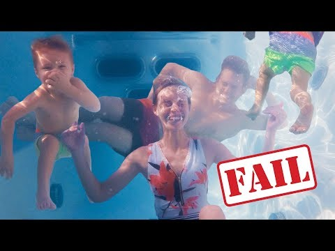 FAMILY PHOTOSHOOT UNDERWATER FAIL! (Expectation Vs Reality)