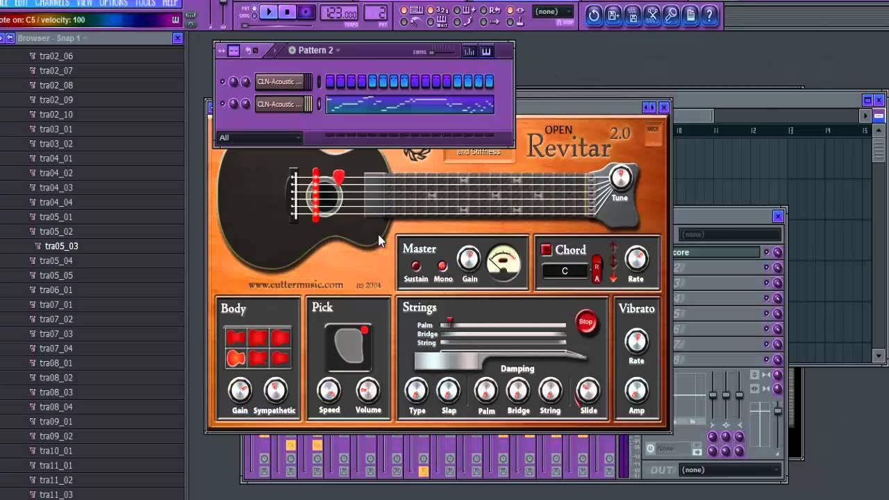 fl studio realistic guitars with revitar vst youtube. Black Bedroom Furniture Sets. Home Design Ideas
