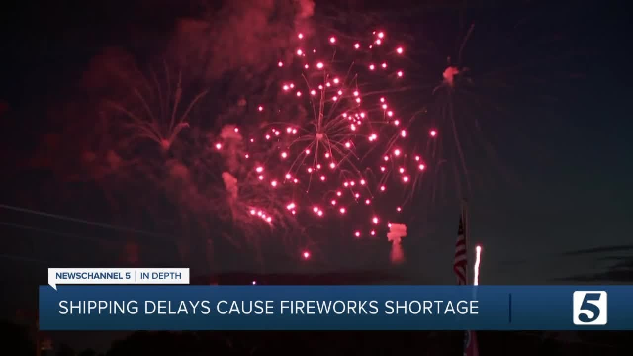 Global shipping delays cause fireworks shortage, right before the Fourth of July