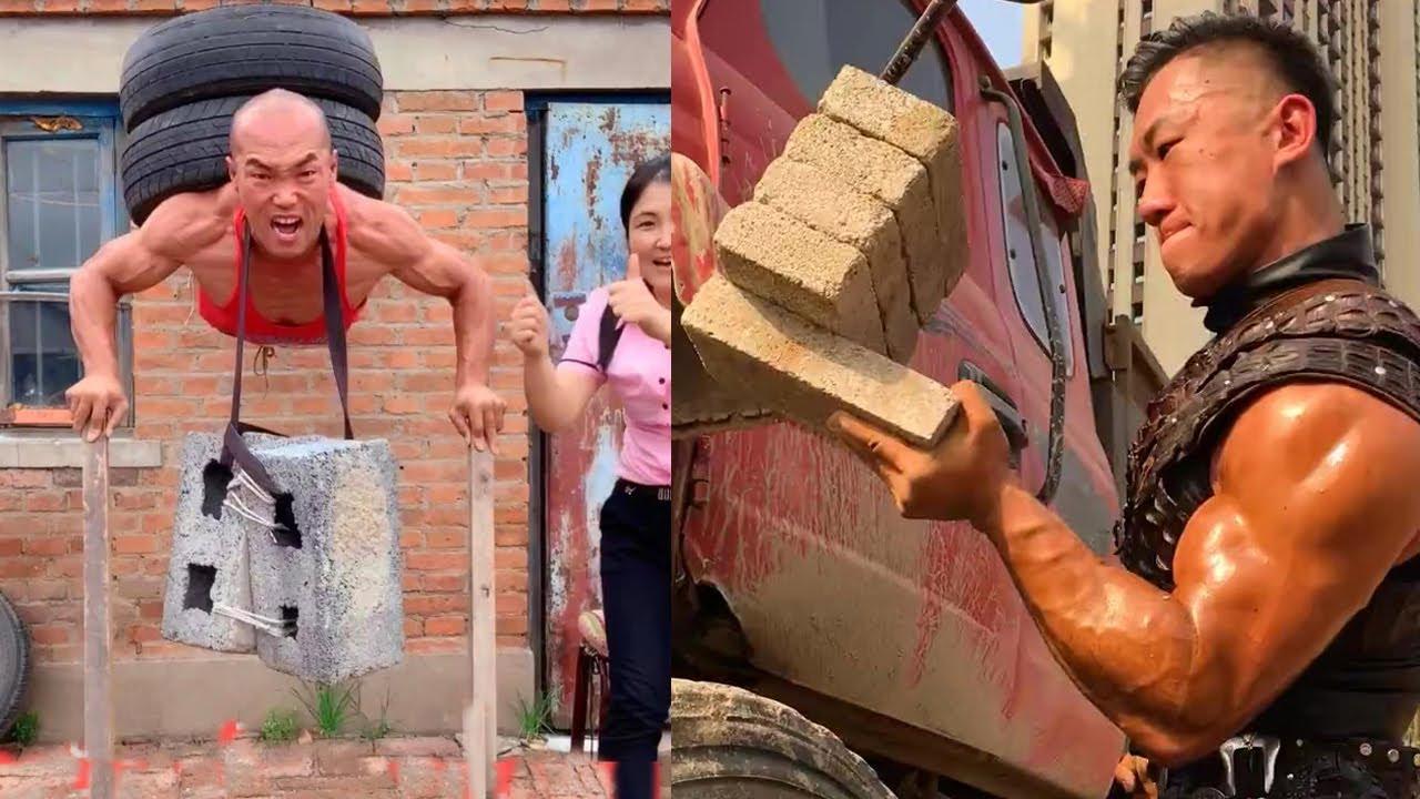 Download Strongest man challenge 💪| Lift Car | Break a Brick With Your Hand💪 Tik Tok #1