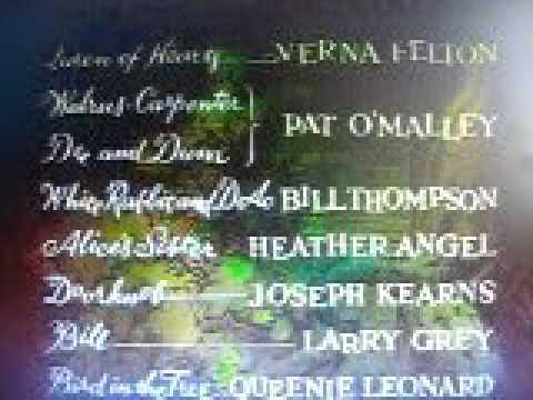 Alice In Wderlandclosing credits english