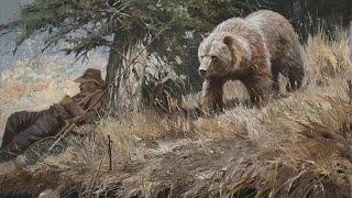 Охота на медведя в берлоге с лайкой (хорошее качество)