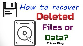How to recover deleted data ? Data recovery explain in hindi