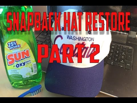 Washington Capitals Snapback Hat Restore Part 2