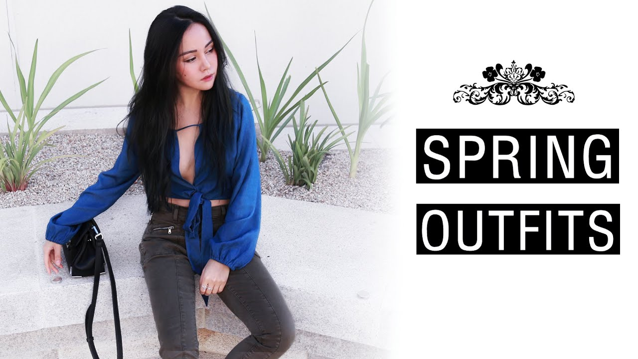 spring outfits 2016  another spring lookbook  youtube
