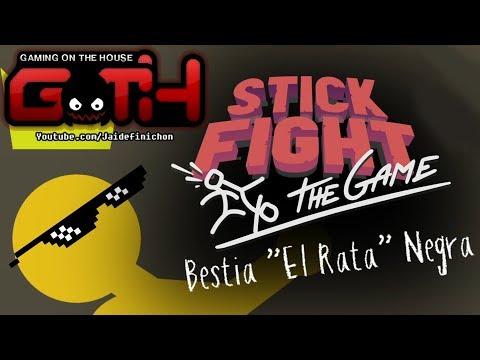 """BESTIA """"EL RATA"""" NEGRA! Stick Fight Momentos Graciosos en Español - GOTH"""