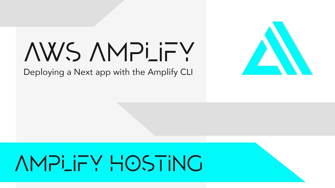 Deploying A Next App with The AWS Amplify CLI