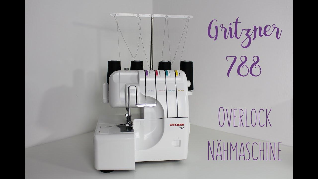 Gritzner 788 Overlock Nähmaschine Freiarm LED Licht extra