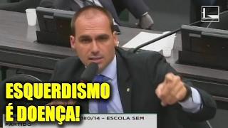 """Eduardo Bolsonaro rebate professora militante: """"Esquerdismo é doença!"""""""