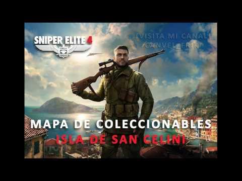 Sniper Elite 4 – Mapa Isla San Celini – Coleccionables