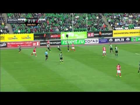 Роман Широков в матче Краснодар 4-0 Спартак 22 тур РФПЛ