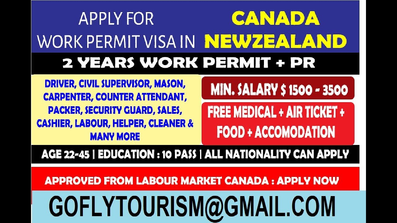 Labour Work permit 10/12 pass Available