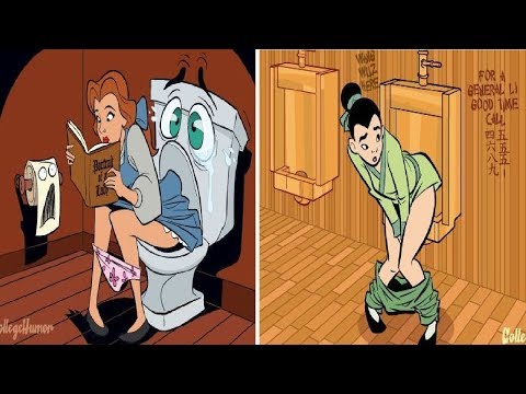 If Disney Princesses Went To The Bathroom from YouTube · Duration:  1 minutes 1 seconds