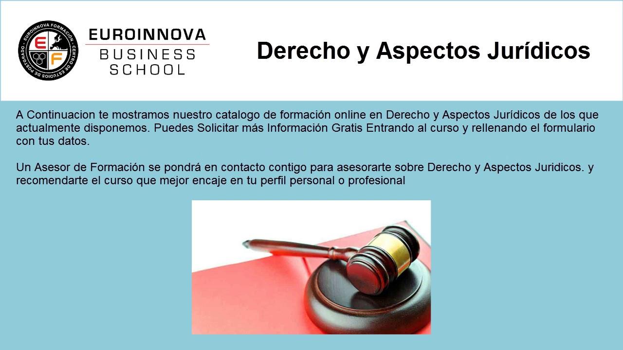 Cursos En Derecho Y Aspectos Juridicos Web Oficial