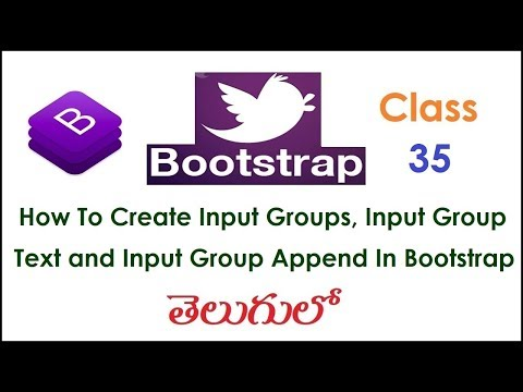 How to Create Input Groups, Input Group Text and Input Group Append More In Bootstrap Telugu 35