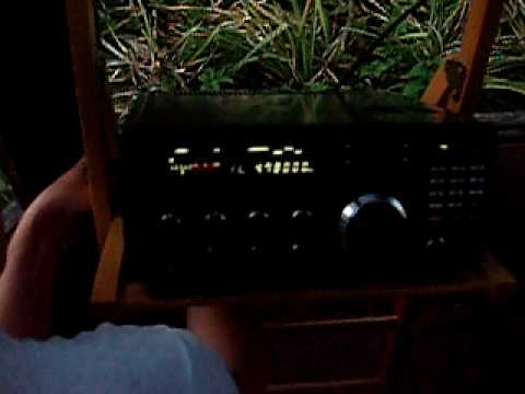 EWE connecting to NRD-525G & start listening with Radio Djibouti