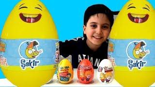 SADO KRAL ŞAKİR DEV SÜRPRİZ YUMURTALARI AÇIYOR !! Kral Şakir Çizgi Film Sürpriz Yumurta Oyuncakları