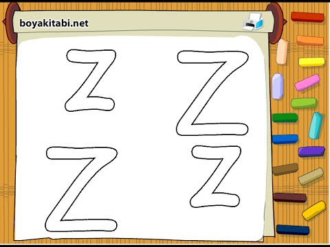 Alphabet Coloring Pages - Letter Z Coloring Page - YouTube