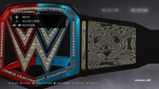 WWE 2K17 smackdown vs raw belt
