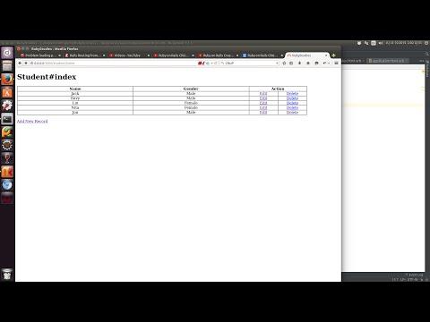 Ruby on Rails CRUD Create Read Update Delete Insert -CRUD
