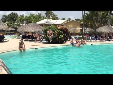 Jumping in the pool! - Dominican Republic