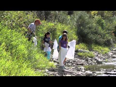 Citizens clean up shorelines in Red Deer, Alberta