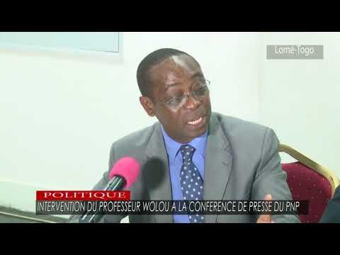 Intervention du Prof WOLOU à la conférence de presse du PNP
