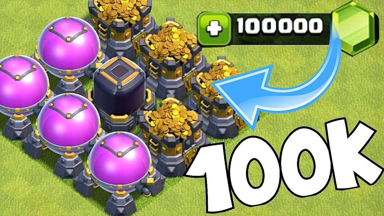 "GET 100K FREE GEMS!!! ""Clash of clans"" GEM GIVEAWAY!!"