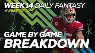 NFL DFS Strategy - Week 14 Top Targets - 2019 Fantasy Football