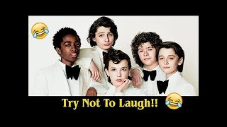 STRANGER THINGS CAST 😂 ULTIMATE FUNNY MOMENTS! #LOWI
