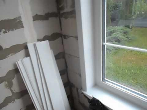 Монтаж наличников ПВХ на окна и двери. Система Exter. - YouTube