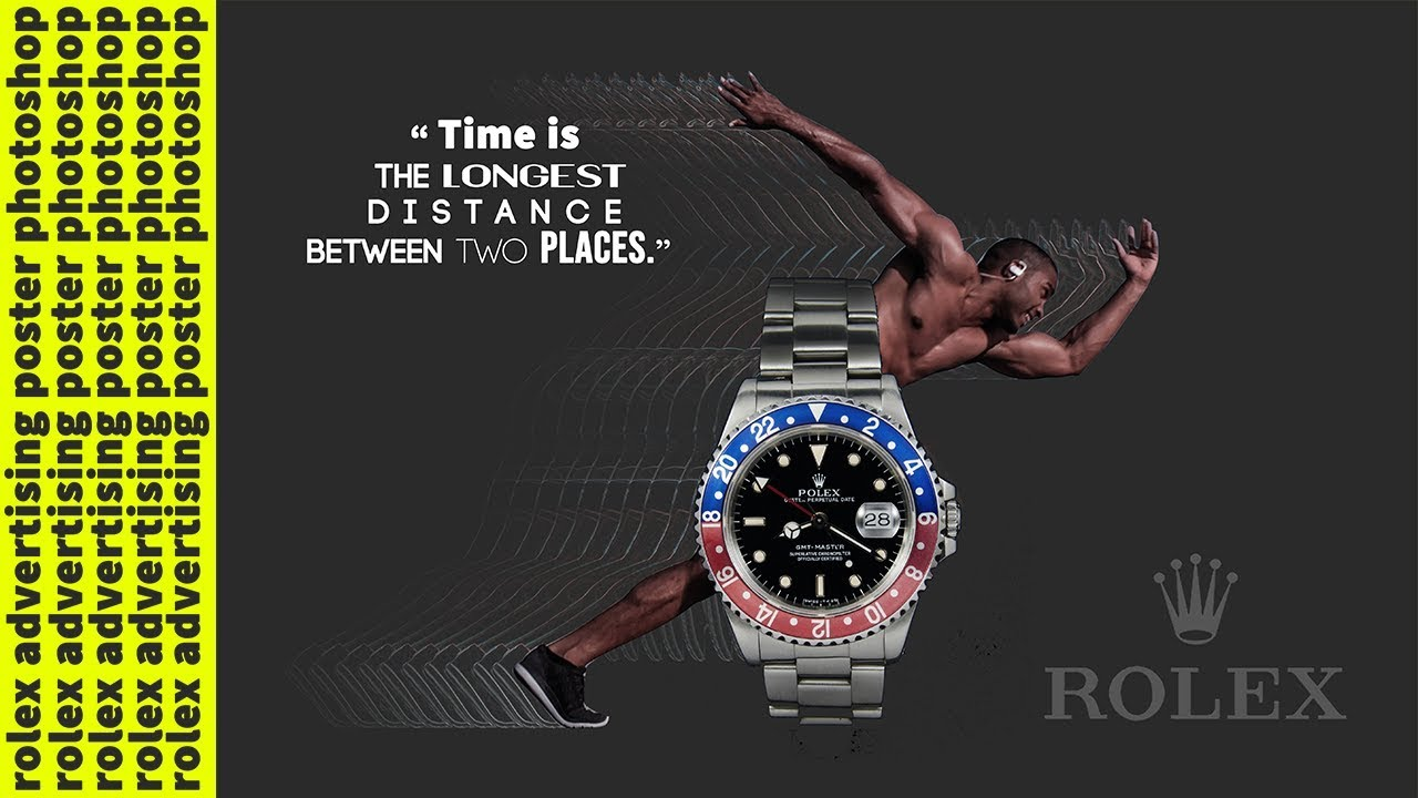 rolex advertising poster photoshop - YouTube