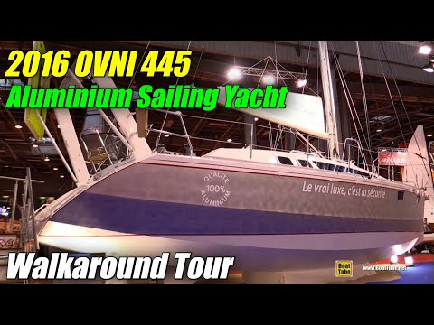 2016 Ovni 445 Aluminium Sailing Yacht - Deck and Interior Walkaround - 2015 Salon Nautique de Paris
