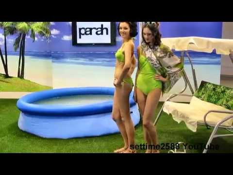 Swimwear Show at CPM Fair, Moscow, Russia. September 2014