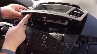 Opel Insignia - как разобрать панель приборов