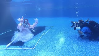 UNDERWATER PHOTOSHOOT! #bts shooting underwater for the 1st time & more!