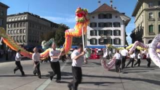 Löwen und Drachentanz auf dem Bundesplatz 2015 von Chin-Woo-Schweiz & EnergieOase