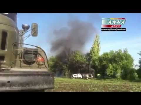 Volnovakha. Helicopter 'Friendly' Fire. 22.05.2014 (Donetsk oblast)