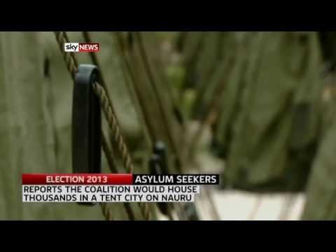 Coalition pledges Nauru tent city
