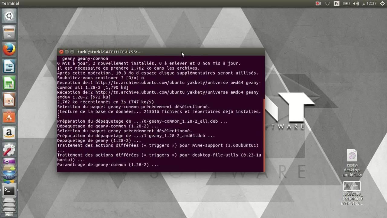geany pour ubuntu