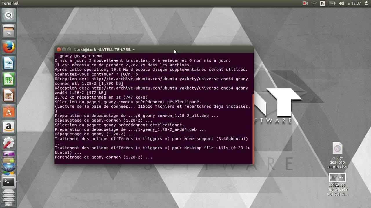 geany pour linux