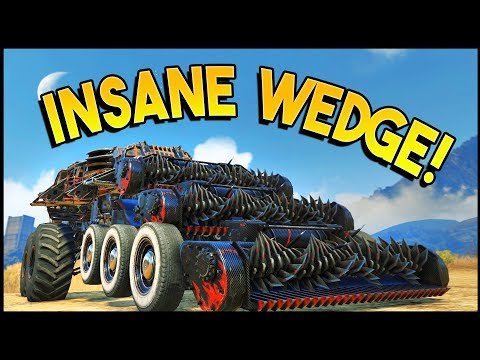 Crossout - INSANE WEDGE BUILD! 3x Harvesters (Crossout Gameplay)