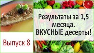 Полтора месяца на диете и -8 см в объемах!!! Рецепты десертов. Выпуск 8